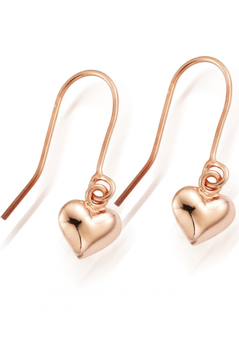 ChloBo STARRY EYES MINI PUFFED HEART EARRINGS - ROSE GOLD main image