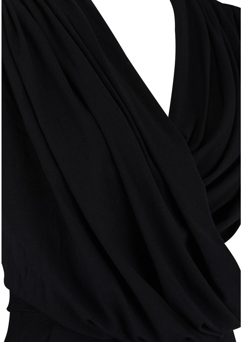 NADIA TARR DRAPED PANTSUIT - BLACK main image