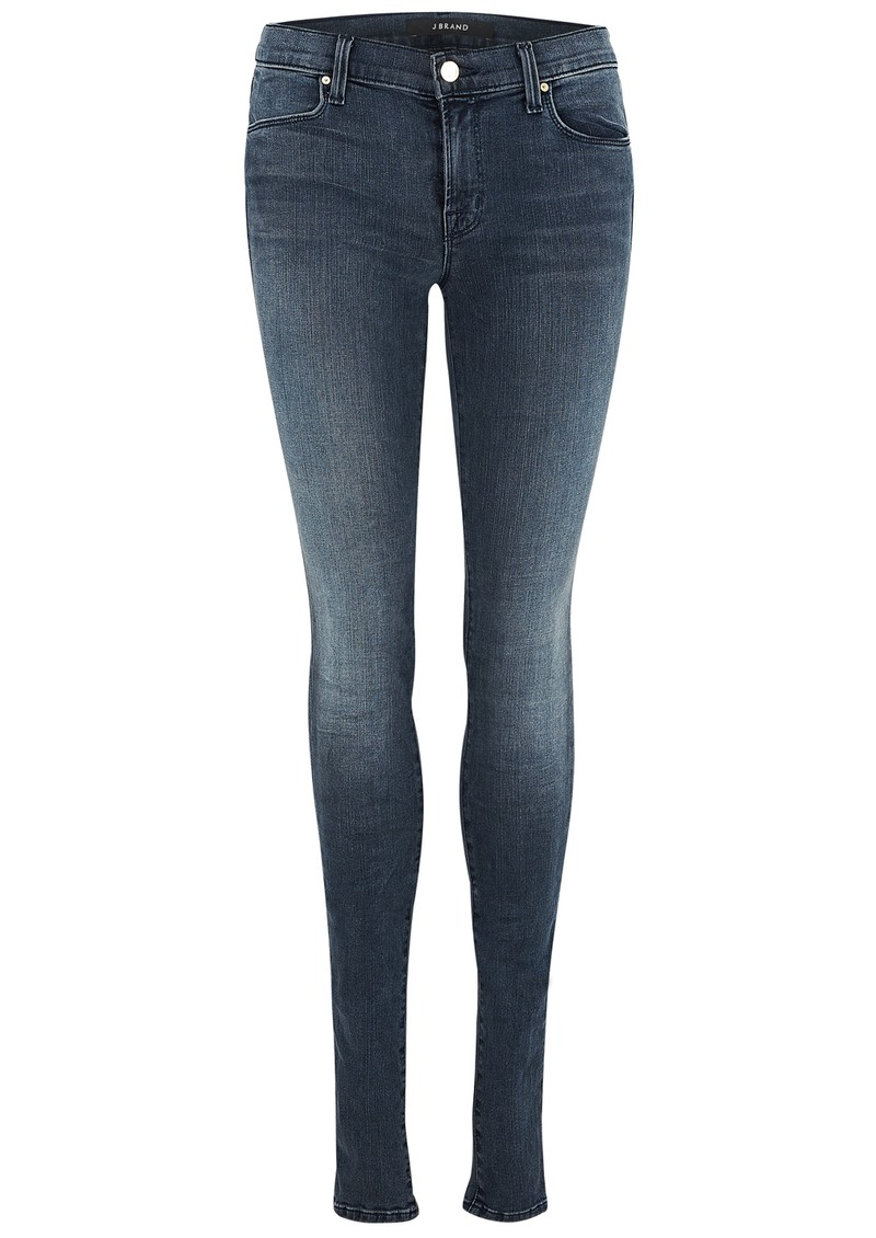 J Brand MID RISE STACKED SUPER SKINNY PHOTO READY JEANS - CRUSH main image