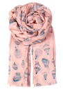 P - UP SILK & WOOL SCARF - ANGEL PINK additional image