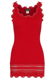 Rosemunde WIDE LACE SILK BLEND TANK - COSY RED
