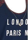 Maison Scotch MIXED PRINTED TEE - SOLAR BLUE
