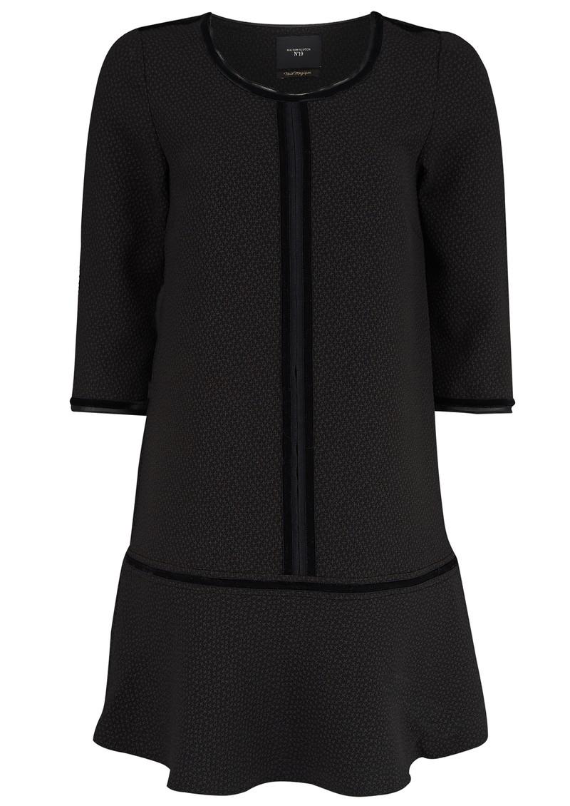 2845776aad Maison Scotch DROPPED WAIST PEPLUM DRESS - BLACK