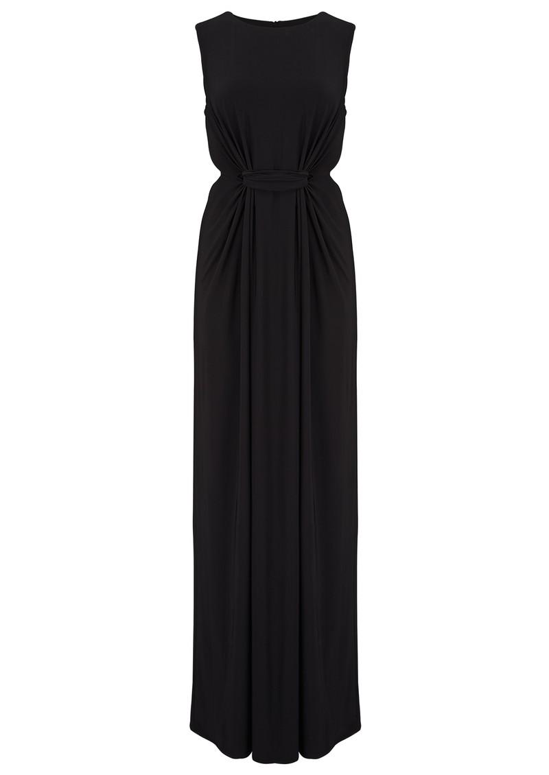 MISA Los Angeles SLEEVELESS SIDE CUT OUT MAXI DRESS - BLACK main image