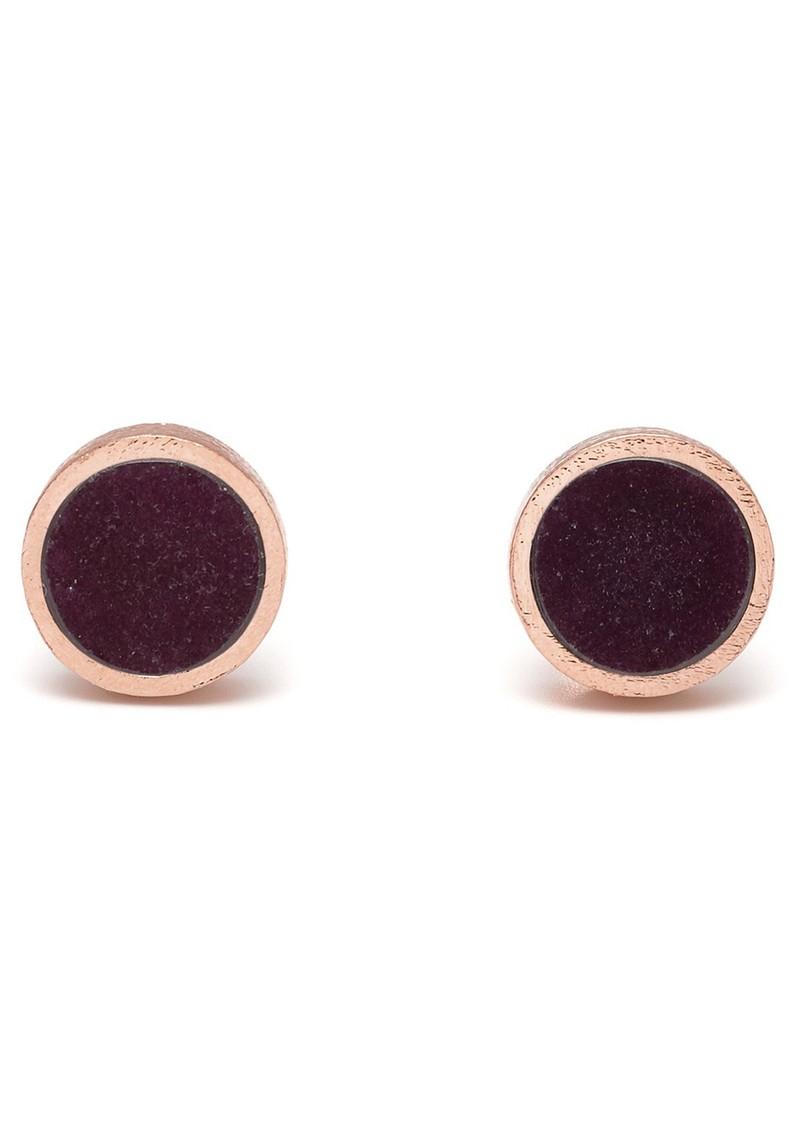 Lola Rose DILLON EARRINGS - BLACK CHERRY QUARTZITE main image