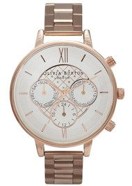 Olivia Burton CHRONO DETAIL DOT DESIGN BRACELET WATCH - ROSE GOLD