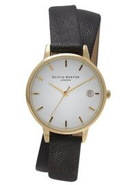 Olivia Burton THE DANDY WRAP WATCH - BLACK & GOLD