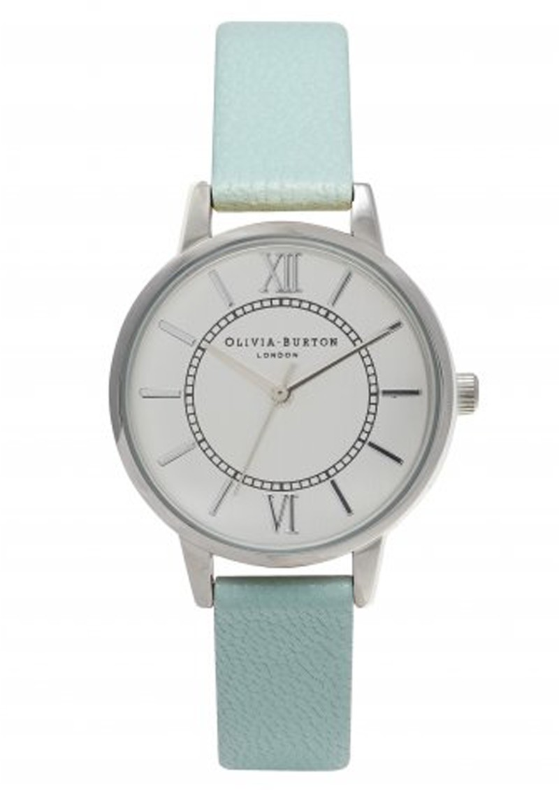 Olivia Burton WONDERLAND WATCH - MINT & SILVER main image