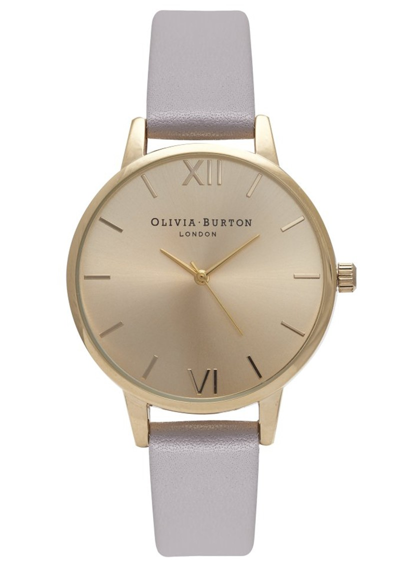 MIDI DIAL WATCH - GREY LILAC & GOLD main image