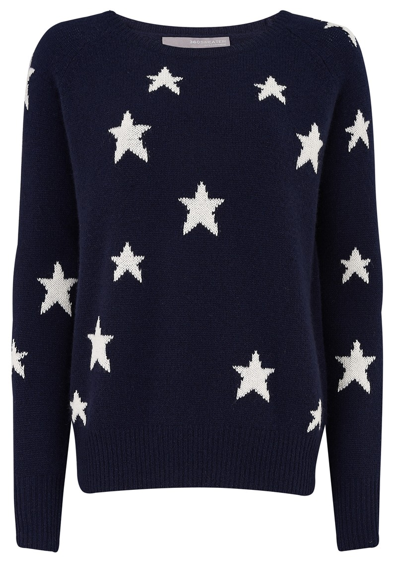 360 SWEATER CAPELLA STAR SWEATER - NAVY main image