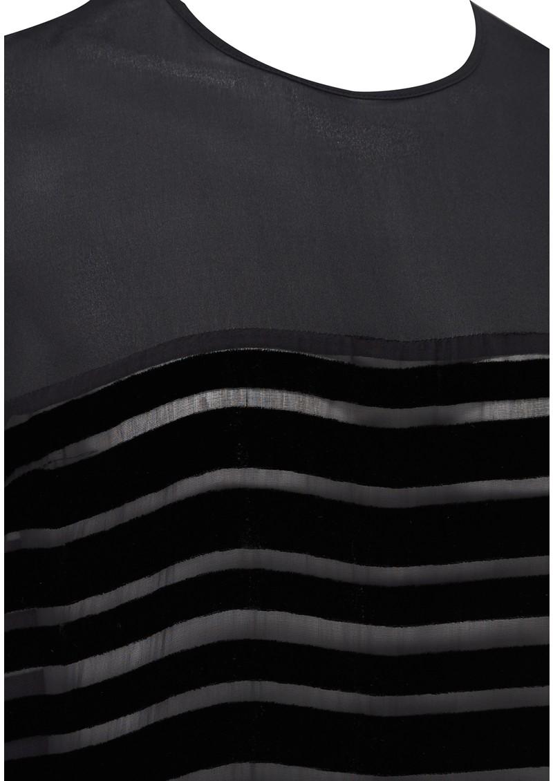 CUSTOMMADE MARLA STRIPED TOP - BLACK main image