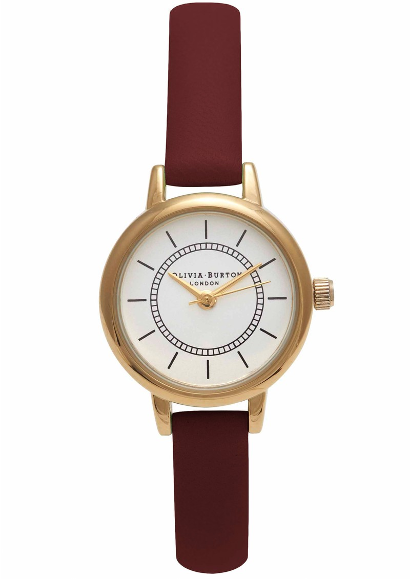 Olivia Burton COLOUR CRUSH WATCH - BURGUNDY & GOLD main image