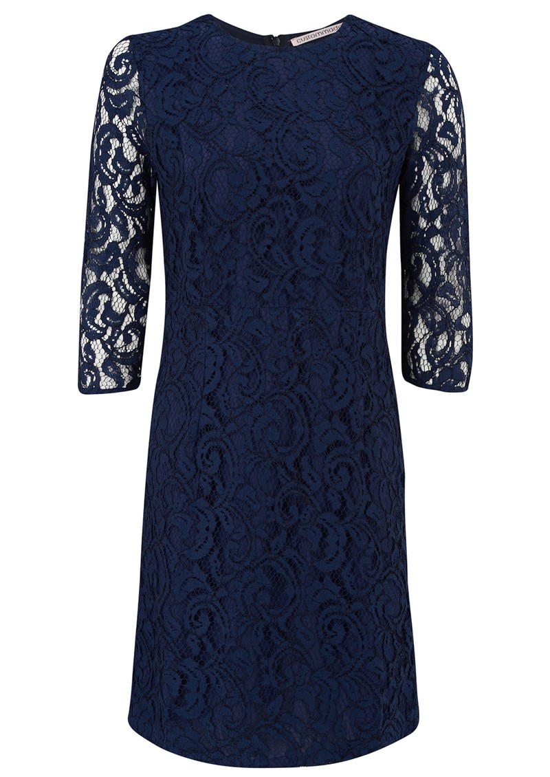 CUSTOMMADE ELLIS LACE DRESS - BLUE IRIS main image
