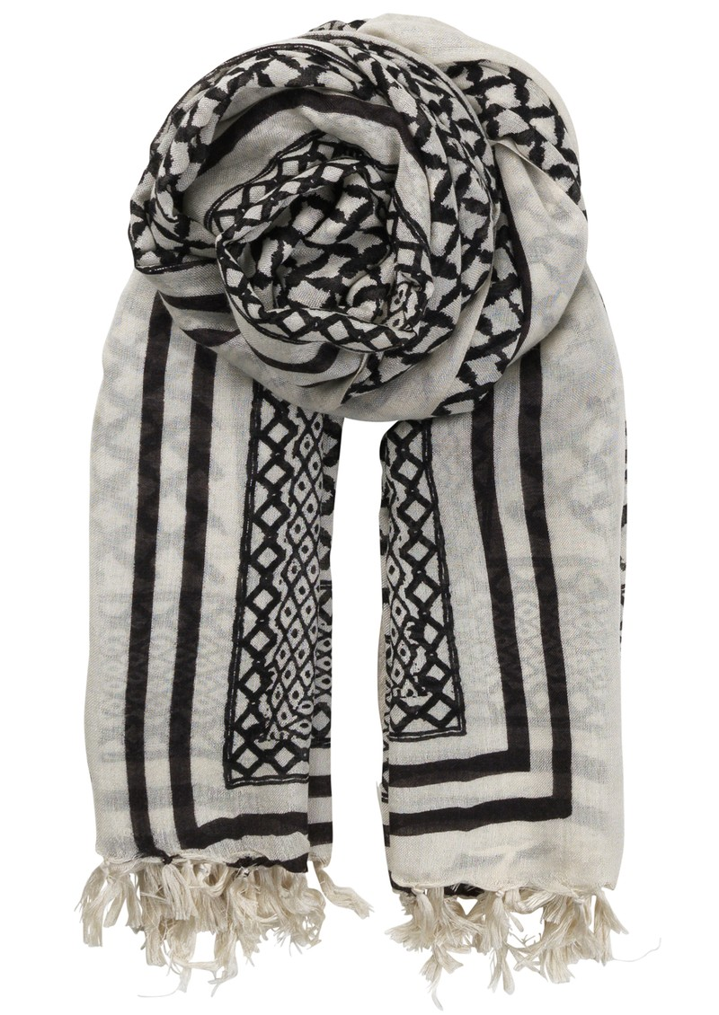 O-rayen Silk & Wool Scarf - Black main image
