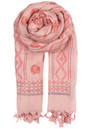 O - AYASHA SILK & WOOL SCARF - PALE PINK additional image