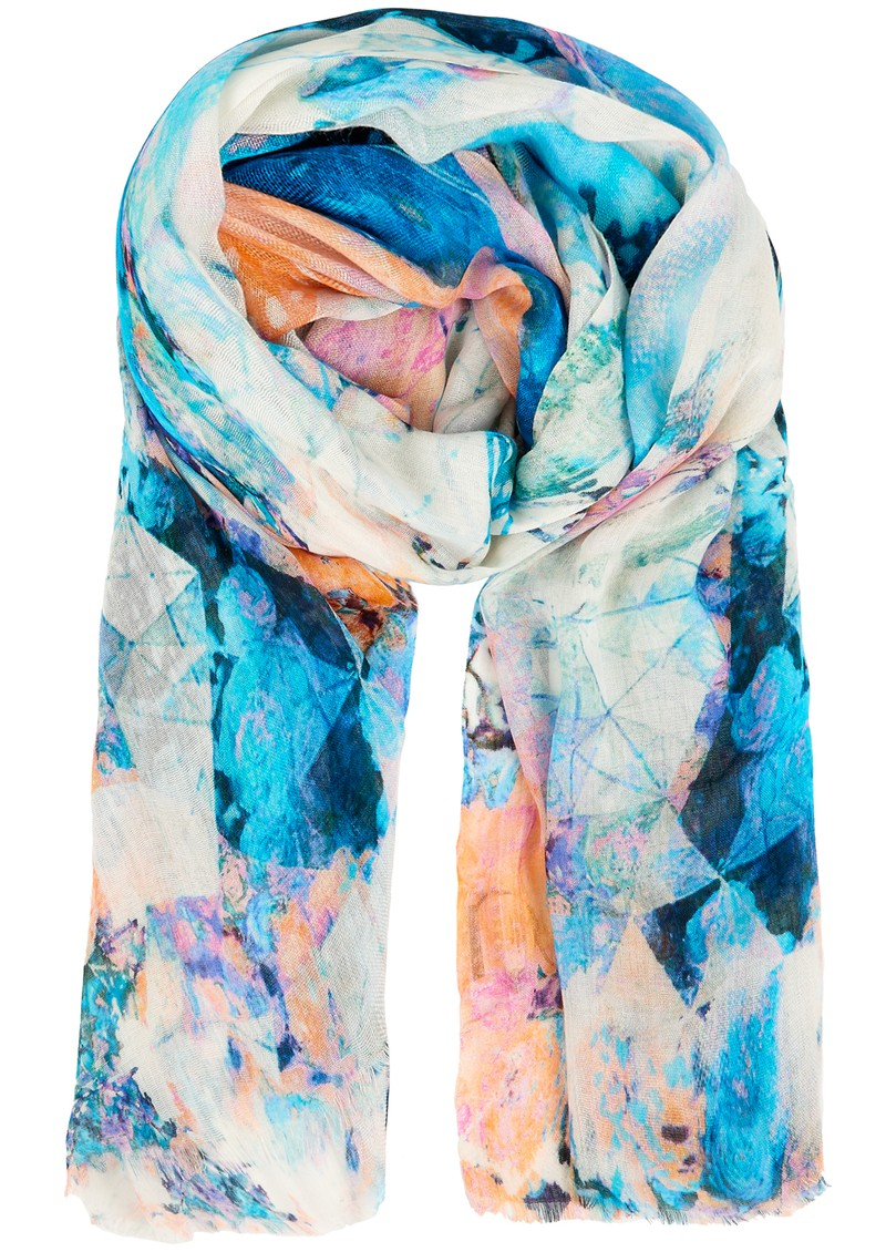 Lily and Lionel Saona Silk Mix Scarf - Multi Pastel main image