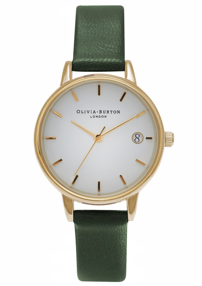 Olivia Burton THE DANDY MIDI DIAL WATCH - FOREST GREEN & GOLD main image