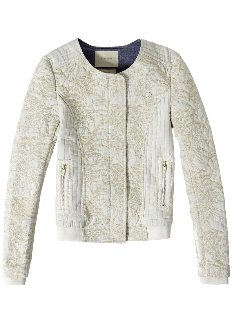 ee6882d2e QUILTED BOMBER JACKET - OFF WHITE