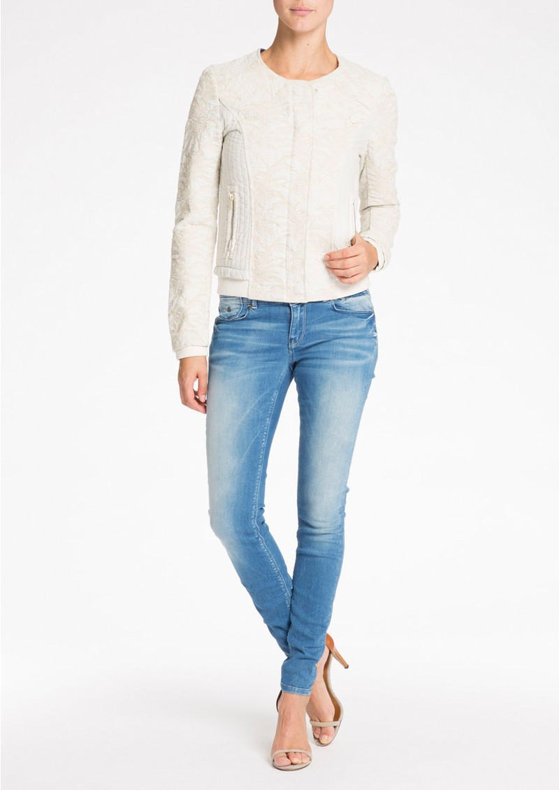 b36c3e540 Maison Scotch QUILTED BOMBER JACKET - OFF WHITE