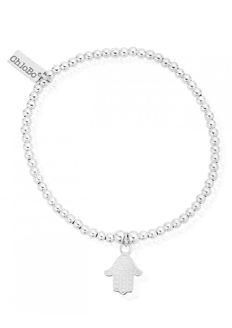 ChloBo Cute Charm Hamsa Hand Bracelet - Silver main image