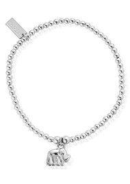 ChloBo Cute Charm Elephant Bracelet - Silver
