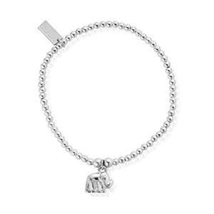 Cute Charm Elephant Bracelet - Silver