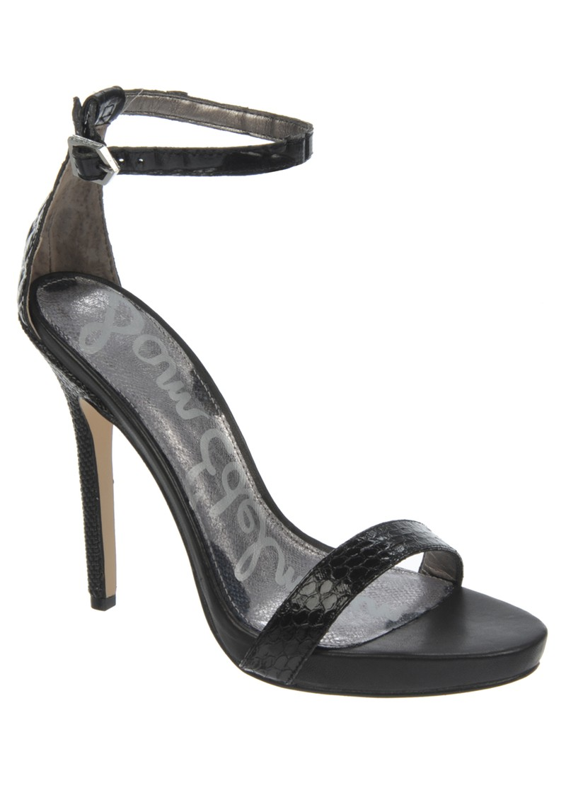 Sam Edelman ELEANOR MOC CROC HEEL - BLACK  main image