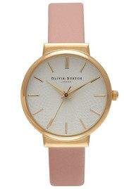 Olivia Burton THE HACKNEY WATCH - DUSTY PINK & GOLD