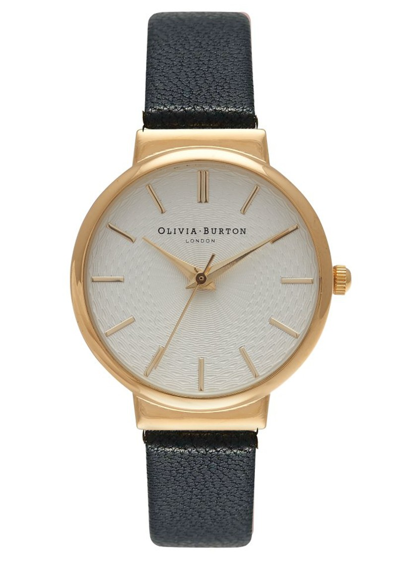 Olivia Burton THE HACKNEY WATCH - BLACK & GOLD main image