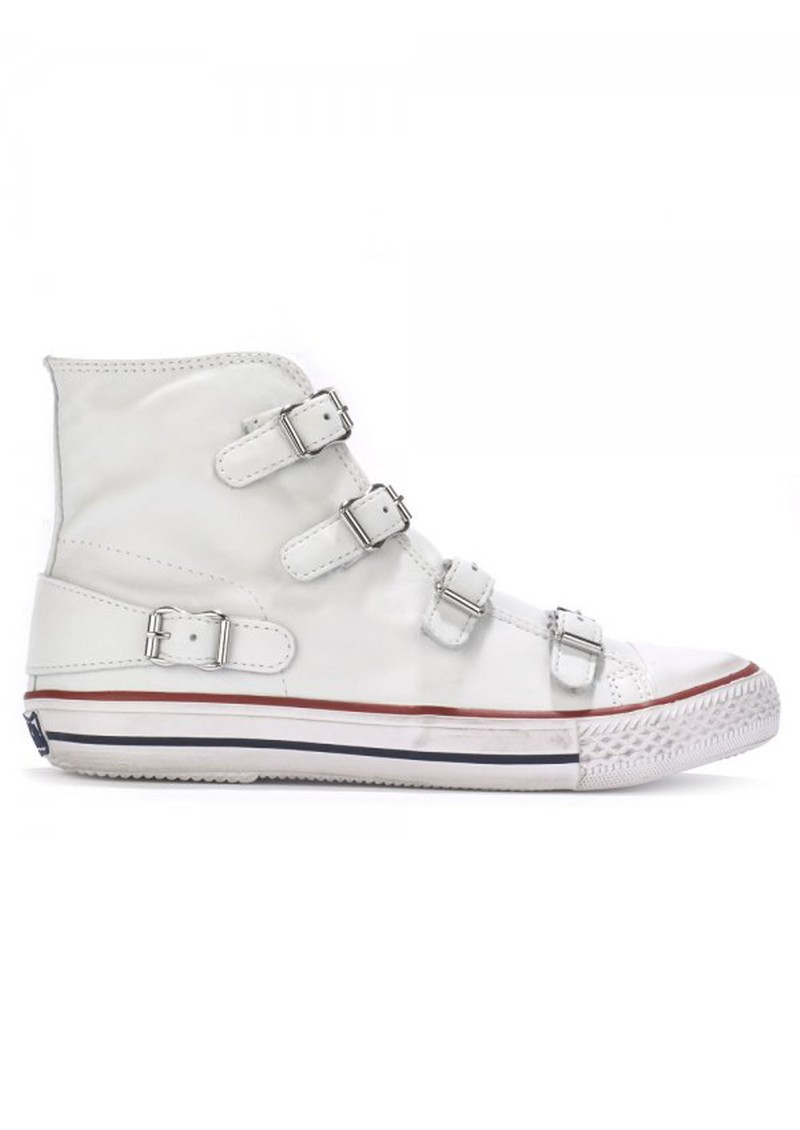 Ash VIRGIN NAPPA BUCKLE TRAINERS - WHITE main image