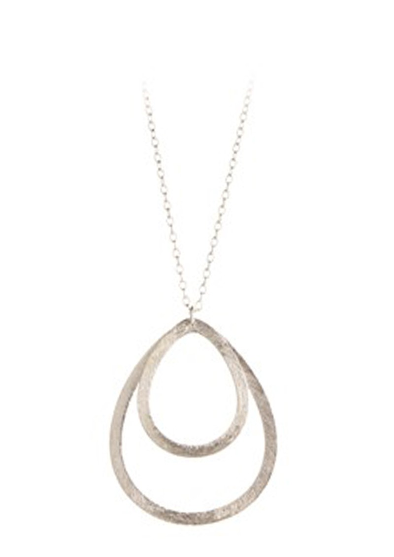 PERNILLE CORYDON DOUBLE DROP NECKLACE - SILVER main image