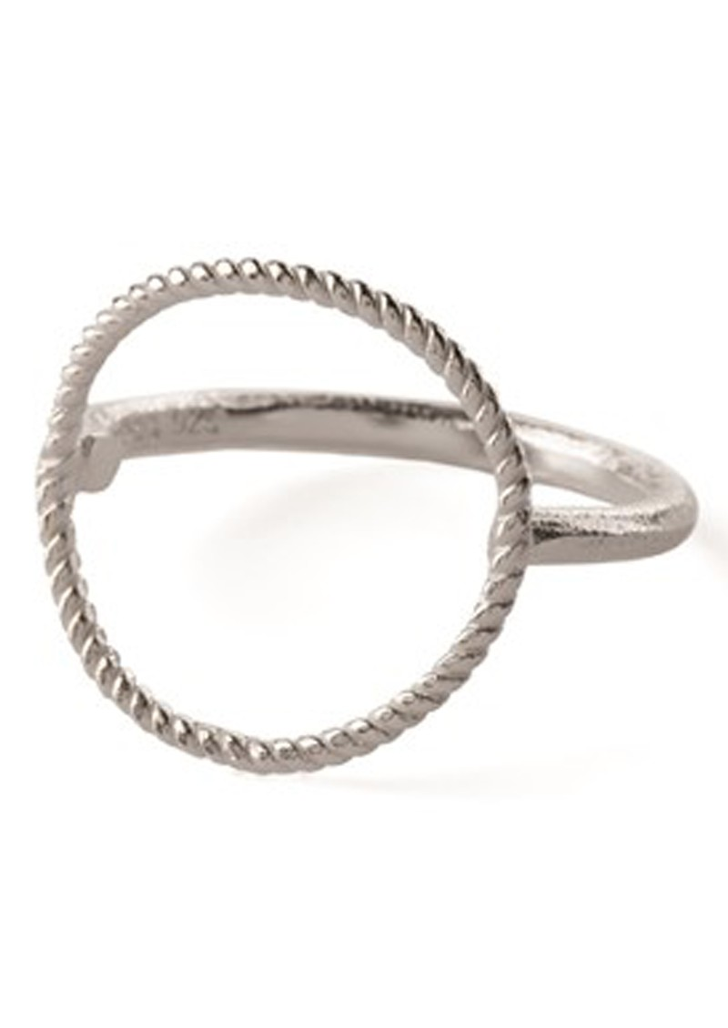 PERNILLE CORYDON TWISTED OPEN COIN RING - SILVER main image