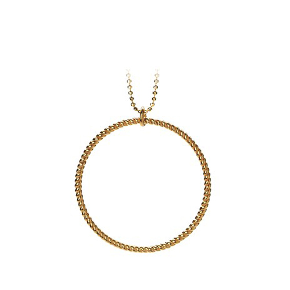 BIG TWISTED NECKLACE - GOLD