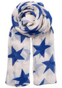 FINE TWILIGHT STAR COTTON SCARF - HIGHLIGHT BLUE additional image