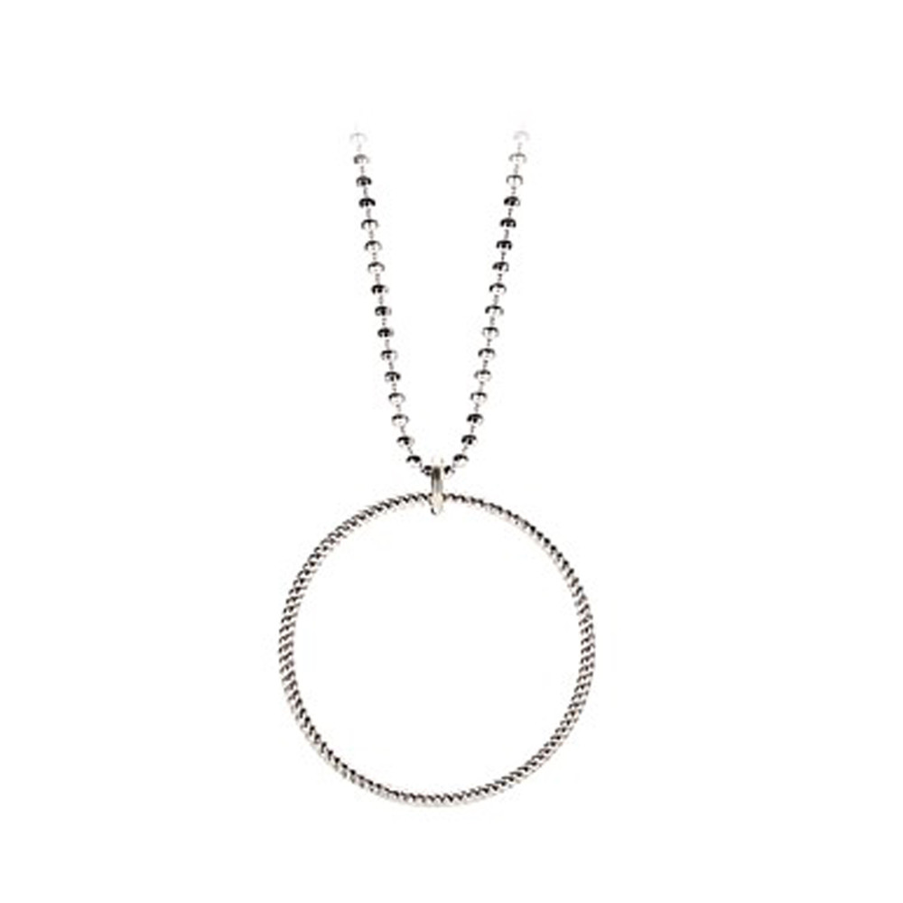 SMALL TWISTED NECKLACE - SILVER