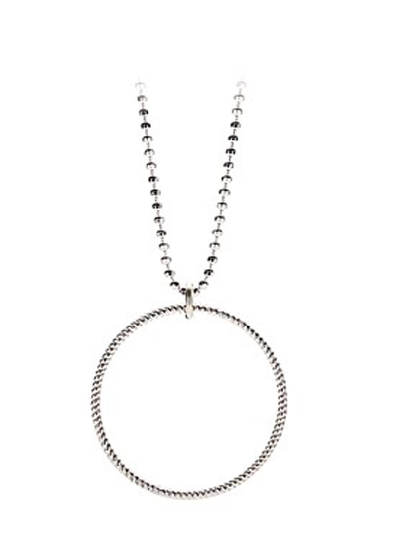 PERNILLE CORYDON SMALL TWISTED NECKLACE - SILVER main image