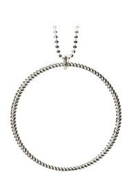 PERNILLE CORYDON Big Twisted Necklace - Silver