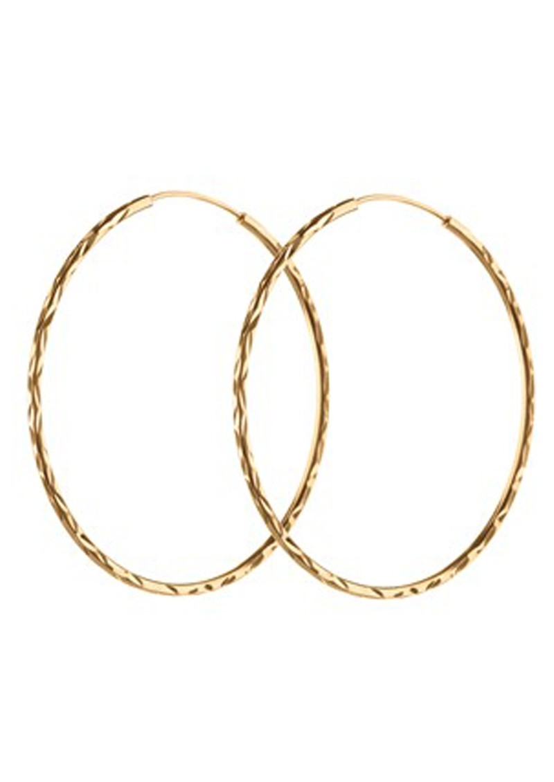 PERNILLE CORYDON LARGE FACET CREOL HOOPS - GOLD main image