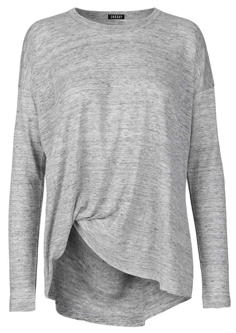2nd Day 2ND GALA LONG SLEEVE TEE - MED GREY main image
