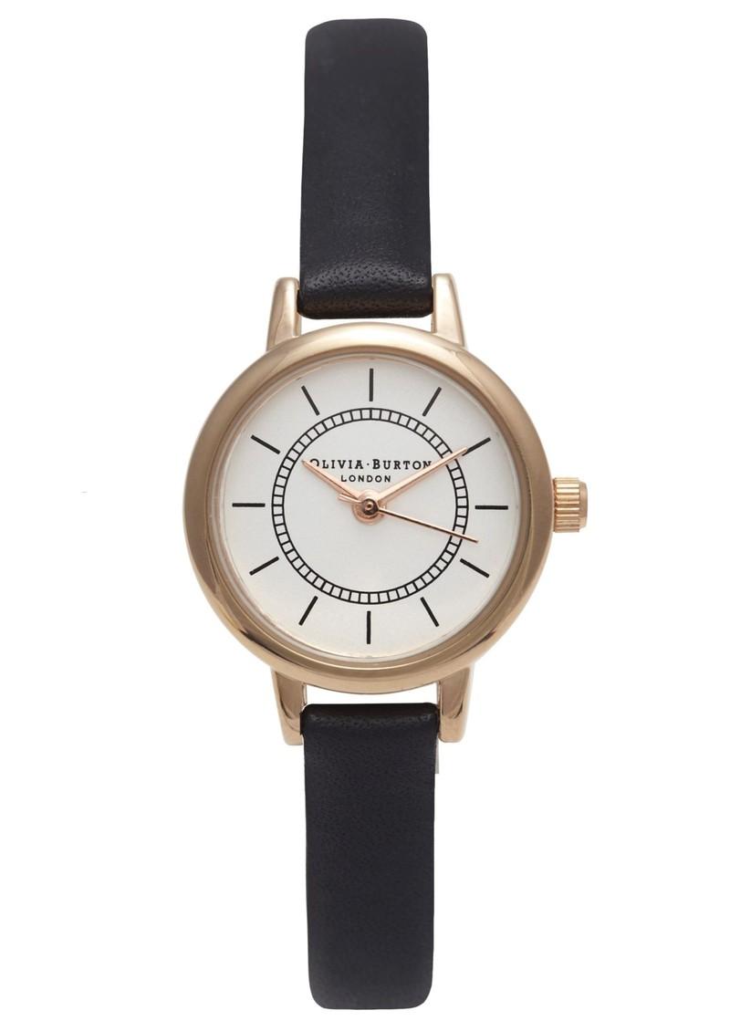 Olivia Burton Colour Crush Watch - Black & Rose Gold main image