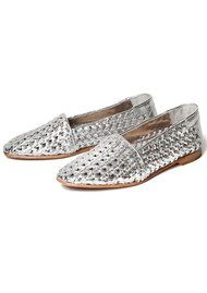 Hudson London COCO WOVEN SHOE - SILVER