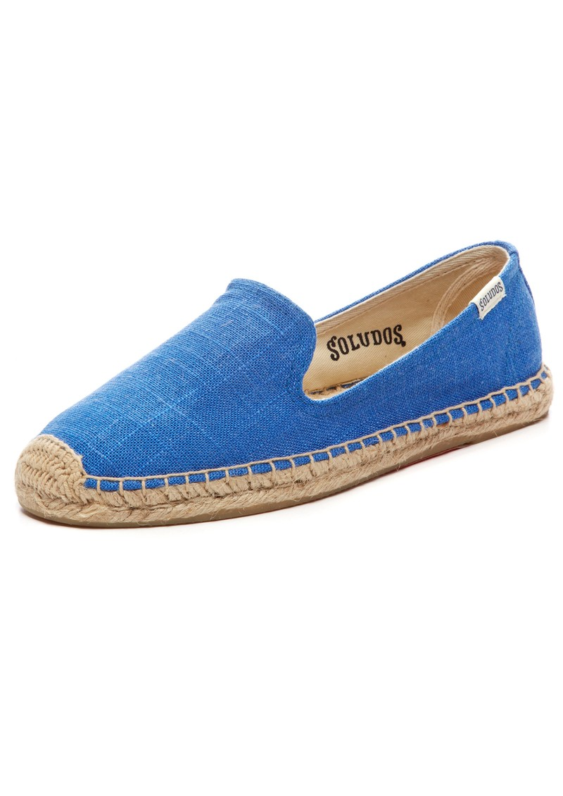 SOLUDOS SMOKING SLIPPER LINEN ESPADRILLE - VIVID BLUE main image