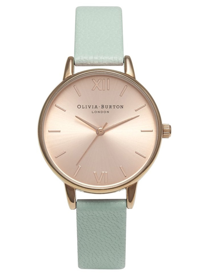 Midi Dial Watch - Mint & Rose Gold main image