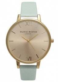 Olivia Burton Big Dial Watch - Mint & Gold