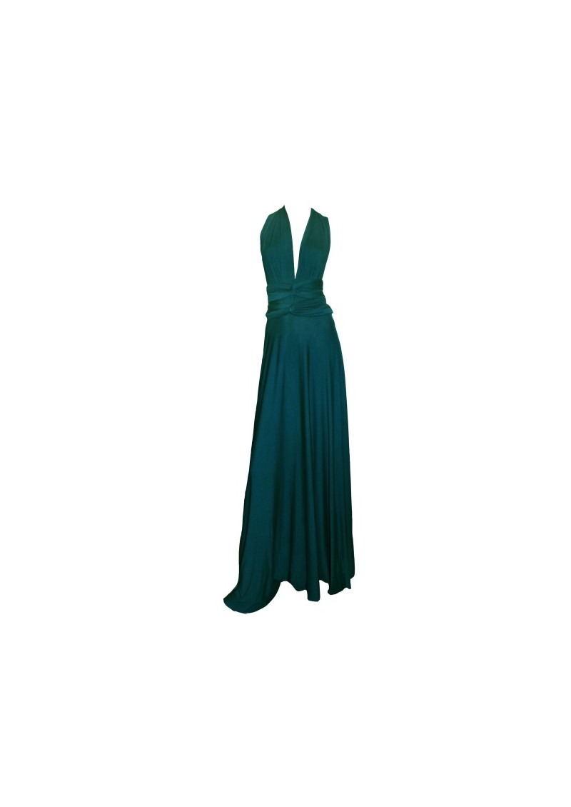 Long Jersey Dress - Cerulean main image
