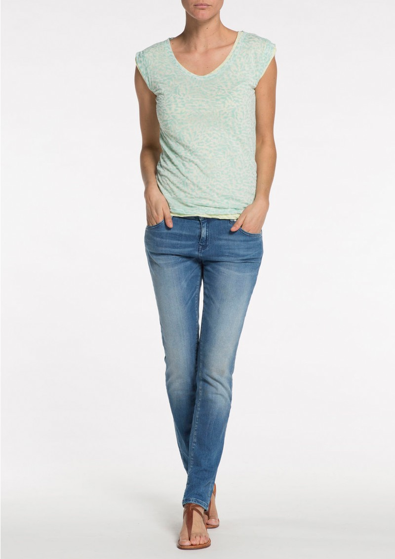 Maison Scotch REVERSIBLE BURN OUT TEE - MINT main image
