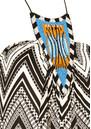 MISA Los Angeles FRONT EMBELLISHED PRINTED DRESS - BLACK & WHITE