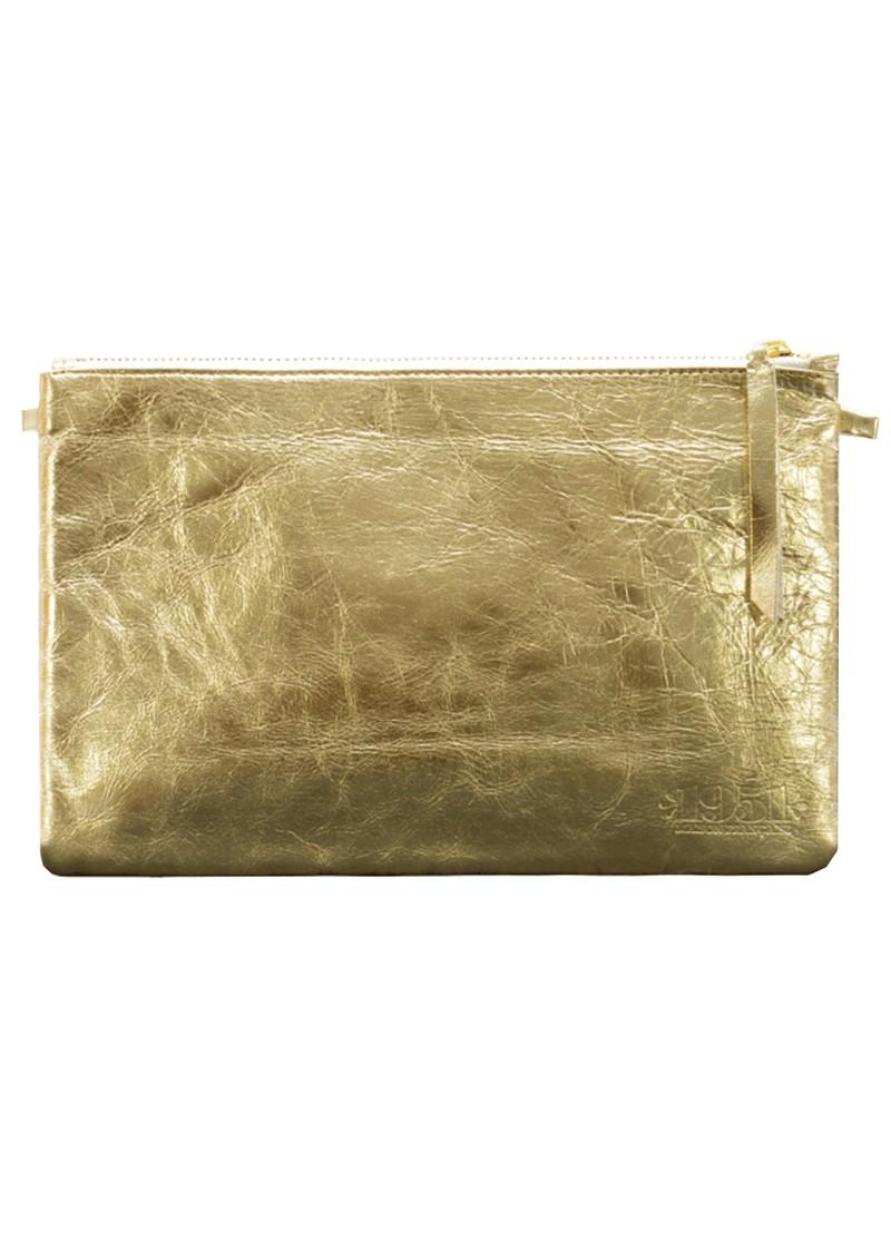 1951 Maison Francaise Pochette Clutch Bag - Anitque Gold Metal main image