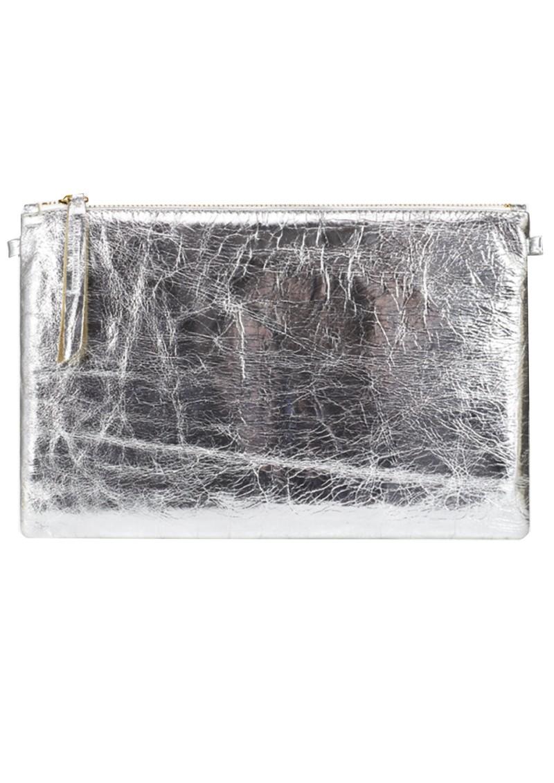1951 Maison Francaise Pochette Clutch Bag - Silver Metal main image