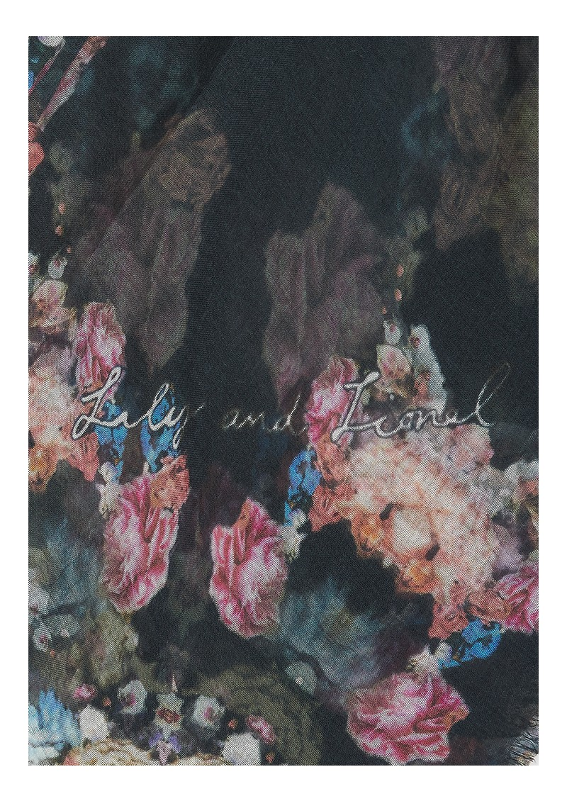 Lily and Lionel Sirena Floral Scarf - Black main image